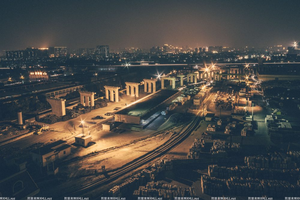 《三眼桥货场夜景》