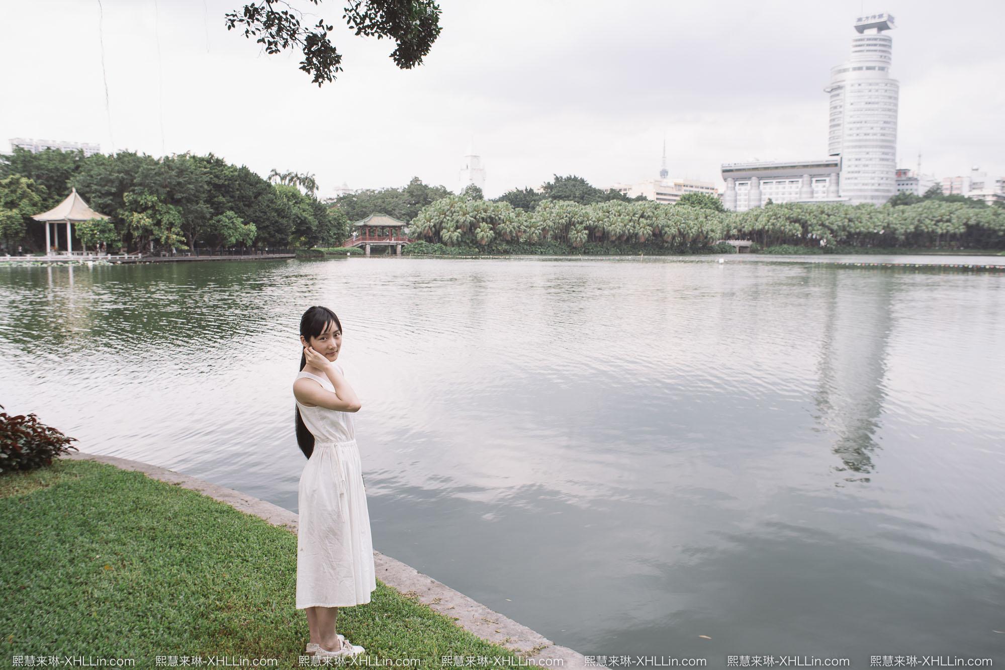 《流花湖公园拍照》
